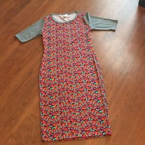 New LuLaRoe Julia dress extra small bright colors